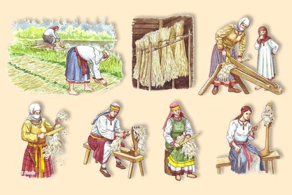 Как обрабатывали лен руками
